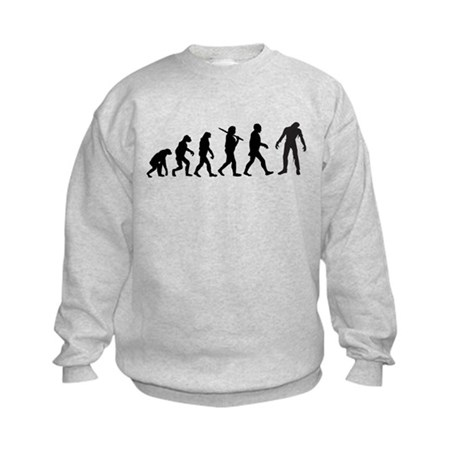 Funny Zombie Evolution Kids Sweatshirt