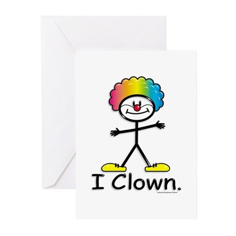BusyBodies Clowning Greeting Cards (Pk of 10)