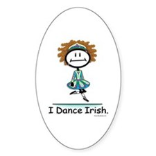 BusyBodies Irish Dancing Oval Decal