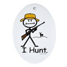 Deer Hunter Oval Ornament