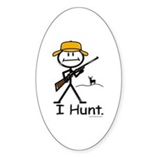 BusyBodies Deer Hunter (Rifle) Oval Decal