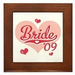 Sporty Heart Pink Bride 09 Framed Tile