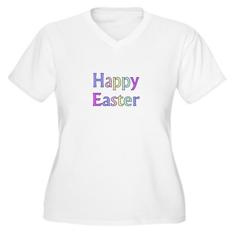 Pastel Easter Women's Plus Size V-Neck T-Shirt