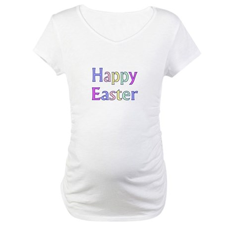 Pastel Easter Maternity T-Shirt