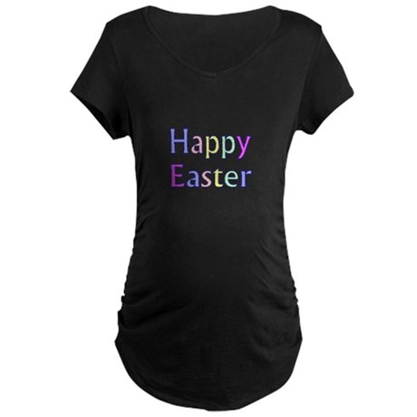 Pastel Easter Maternity Dark T-Shirt