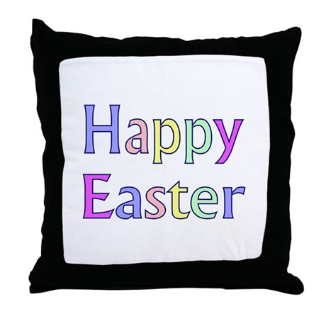 Pastel Easter Throw Pillow