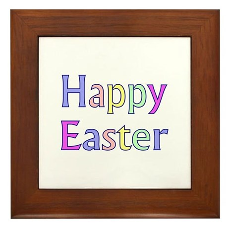 Pastel Easter Framed Tile
