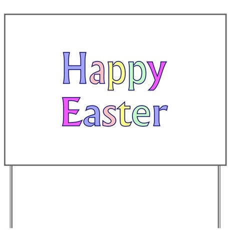 Pastel Easter Yard Sign