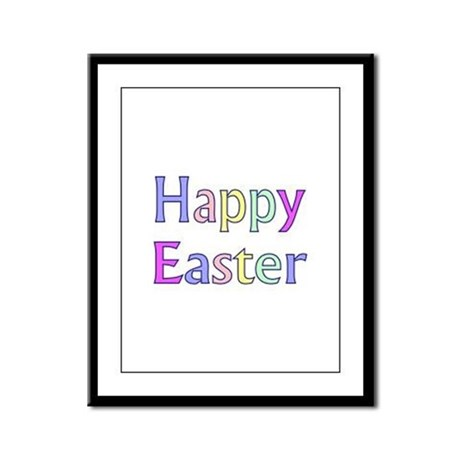 Pastel Easter Framed Panel Print
