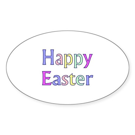Pastel Easter Oval Sticker