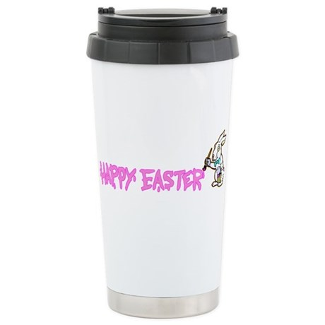 Paint Easter Bunny Ceramic Travel Mug