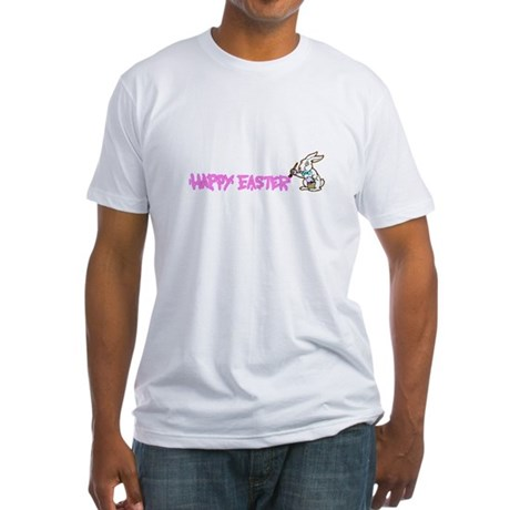 Paint Easter Bunny Fitted T-Shirt