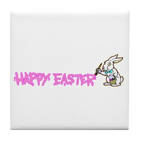 Paint Easter Bunny Tile Coaster