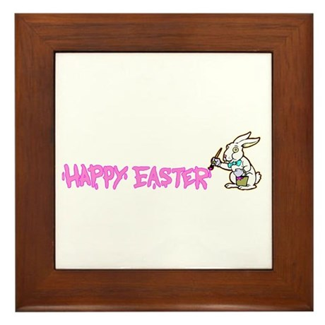 Paint Easter Bunny Framed Tile