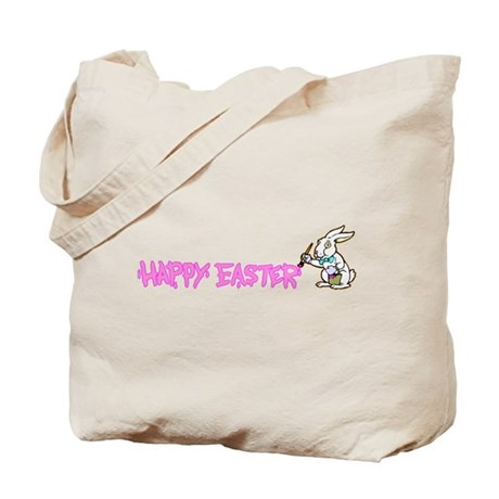 Paint Easter Bunny Tote Bag