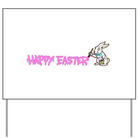 Paint Easter Bunny Yard Sign