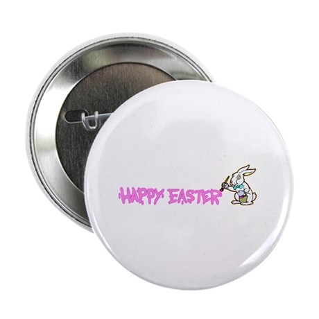 "Paint Easter Bunny 2.25"" Button"
