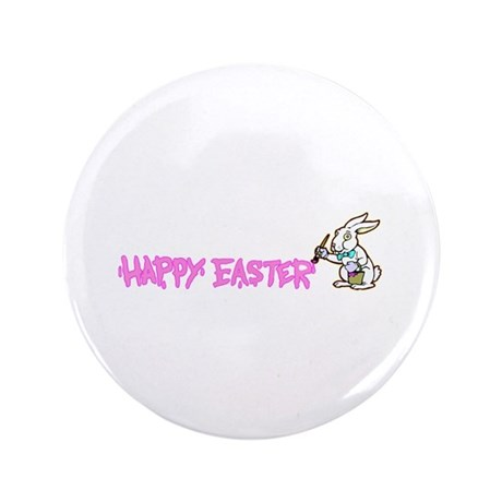 "Paint Easter Bunny 3.5"" Button (100 pack)"