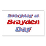 Everyday is Brayden Day Rectangle Decal