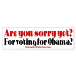 ARE YOU SORRY YET? Bumper Sticker