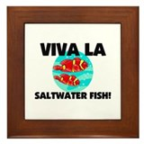 Viva La Saltwater Fish Framed Tile