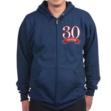30 Something 30th Birthday Zip Hoodie