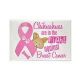 Chihuahuas Against Breast Cancer 2 Rectangle Magne