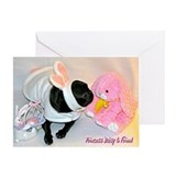 Kissing Bunny Greeting Card