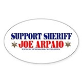 SUPPORT SHERIFF JOE ARPAIO! Oval Decal
