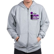 I Wear Purple For My Boy Friend 9 PC Zip Hoodie