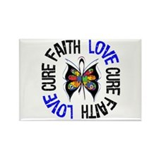 Autism FaithLoveCure Rectangle Magnet