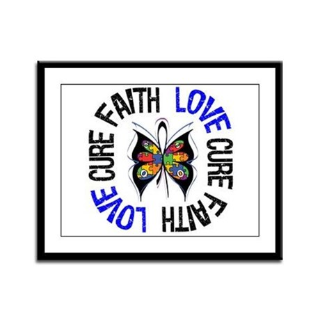 Autism FaithLoveCure Framed Panel Print