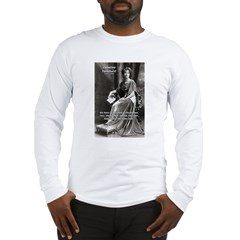 Suffragist Emmeline Pankhurst Long Sleeve T-Shirt