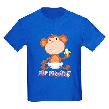 Lil' Monkey Smile Kids Dark T-Shirt