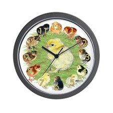 Baby Chicks Wall Clock