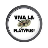 Viva La Platypus Wall Clock