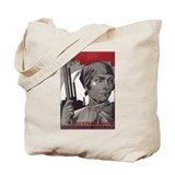 CCCP Woman Build Socialism Tote Bag