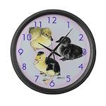 Baby Duckies Large Wall Clock