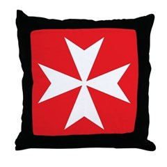 Maltese Cross Throw Pillow