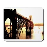 Newport Bridge Sunset Mousepad