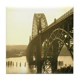 Newport Bay Bridge Left Tile Coaster
