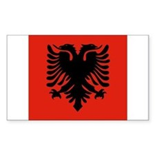 Albanian Rectangle Sticker 10 pk)