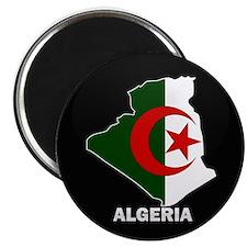 Flag Map of Algeria Magnet