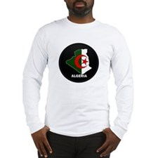 Flag Map of Algeria Long Sleeve T-Shirt