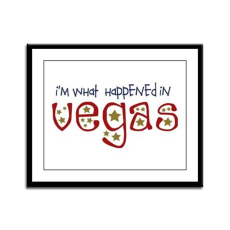 I'm What Happened In Vegas Framed Panel Print