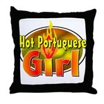 Hot Portuguese Girl Throw Pillow