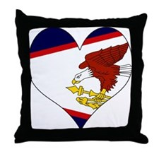 I Love American Samoa Throw Pillow