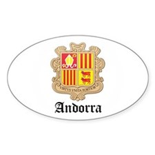 Andorran Coat of Arms Seal Oval Decal