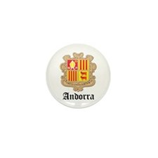 Andorran Coat of Arms Seal Mini Button (100 pack)