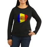 Andorra Flag Map T-Shirt